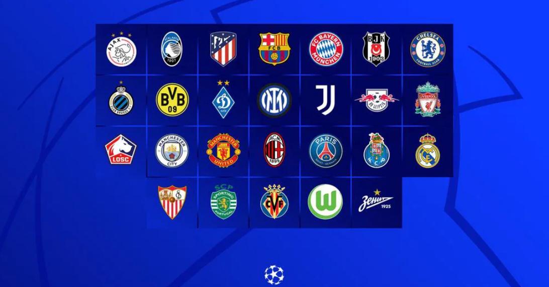 الأندية المشاركة في دوري أبطال أوروبا