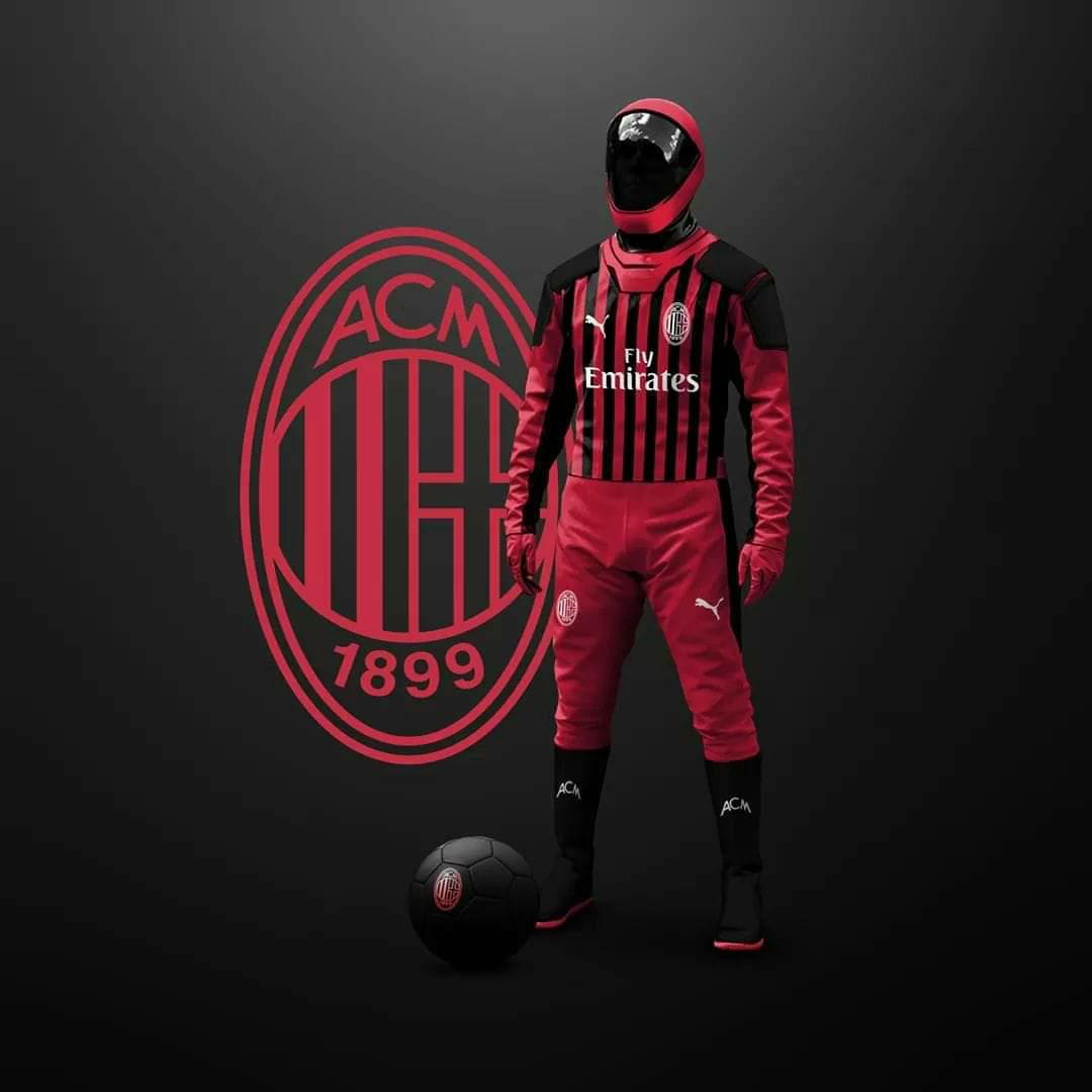 Lucu!! Jersey AC Milan Versi Wabah Corona