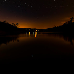 ALDEIA DO MATO by Edu Marques - Landscapes Waterscapes ( reflection, sky, night photography, riverside, sunset, reflections, night, nightscapes, nightscape, river )