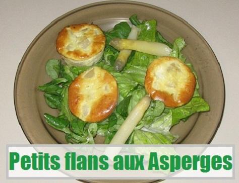recette facile des petits flans aux asperges
