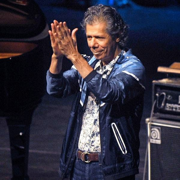 US musician Chick Corea acknowledges the crowd during the third day of the 49th Jazzaldia Jazz festival of San Sebastian, north of Spain, on July 23, 2014.