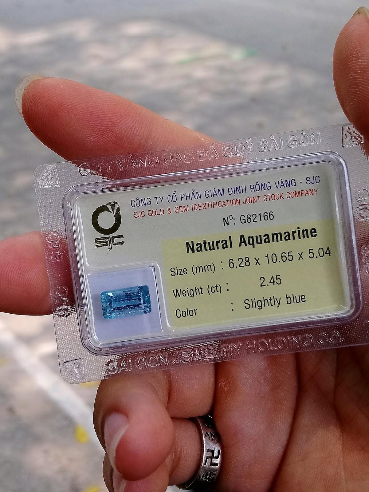 Đá quý Ngọc Lam Biển thiên nhiên, Natural Aquamarine ( 11/04/20, 06 )