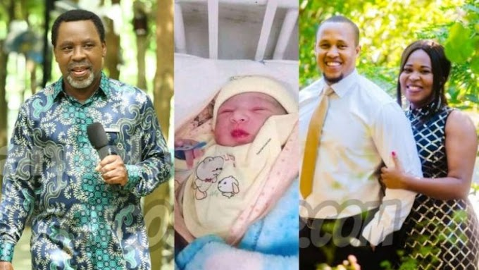 Nigerians Reacts As TB Joshua's Daughter Welcomes Baby Boy On Her Father's Birthday