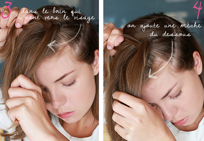 Coiffure romantique avec headband the blue dress girl - Tuto tresse couronne ...