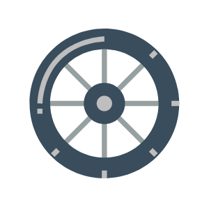 Training wheel icon