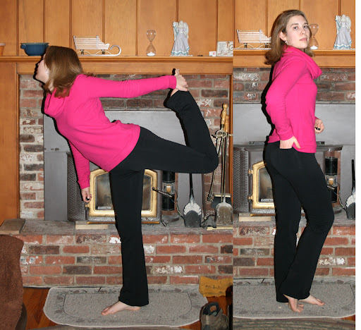 StyleArc Becky yoga pants (stretch single sided fleece)