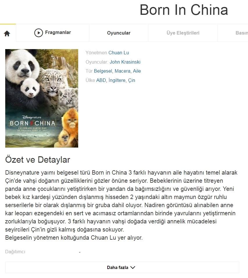 Çinde Doğdum 2016 - 1080p 720p 480p - Türkçe Dublaj Tek Link indir