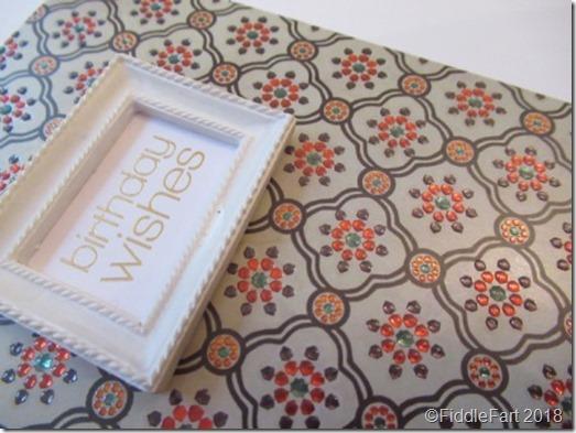 Birthday card with mini frame.
