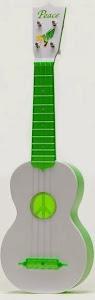 kiwaya plastic peace green soprano at Lardy's Ukelele Database