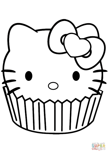 Click The Hello Kitty Cupcake Coloring Pages To View Printable Version Or  Color It Online Patible With Ipad And Android Tablets
