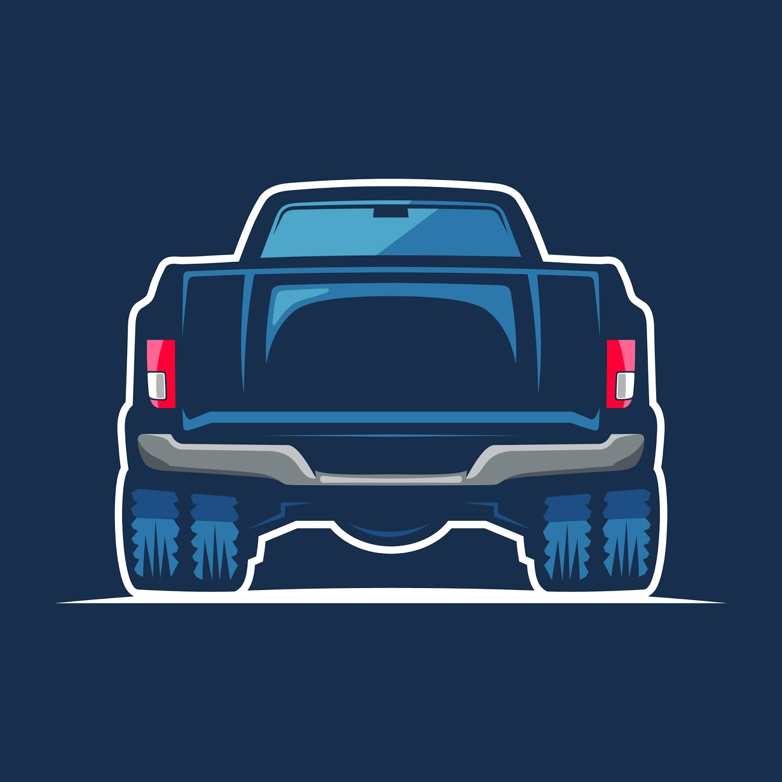 Blue Car Illustration Free Download Vector CDR, AI, EPS and PNG Formats