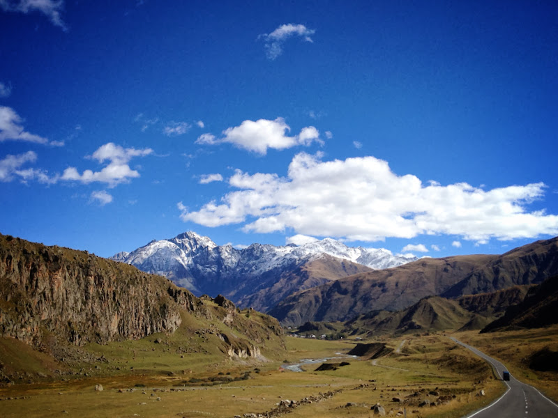 The road to Kazbegi