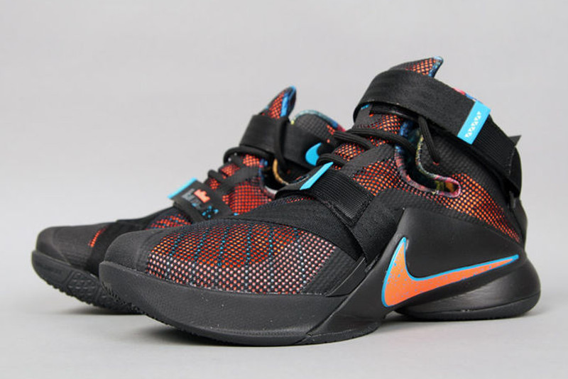 Real Nike Black White Blue Orange Nike Lebron 9
