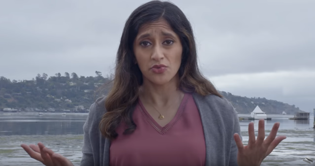 Screenshot of the video, 'What Could Happen in a World That's 4 Degrees Warmer', that shows comedian Aparna Nancherla exploring how global warming and climate change will directly affect our lives 100 years from now when the average global temperature is projected to increase by 4 degrees Celsius, or 7.2 degrees Fahrenheit. Photo: WIRED