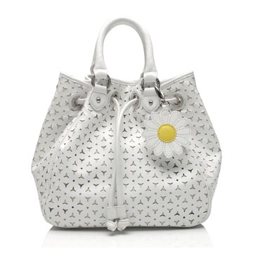 Co9 Lulu Guinness White Perforated Leather Jodie Womens Bag