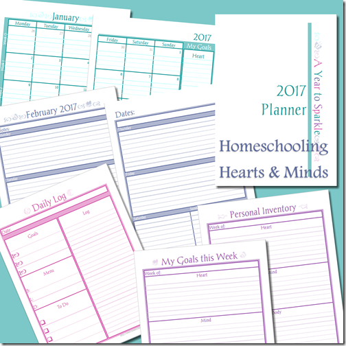 Year to Sparkle Planner from Homeschooling Hearts & Minds