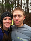 LOVE this picture of us. Also, yes. I am wearing the super-ugly Winship Win the Fight 5k race shirt. It is also very warm, which was entirely point of all of my clothes for this race.