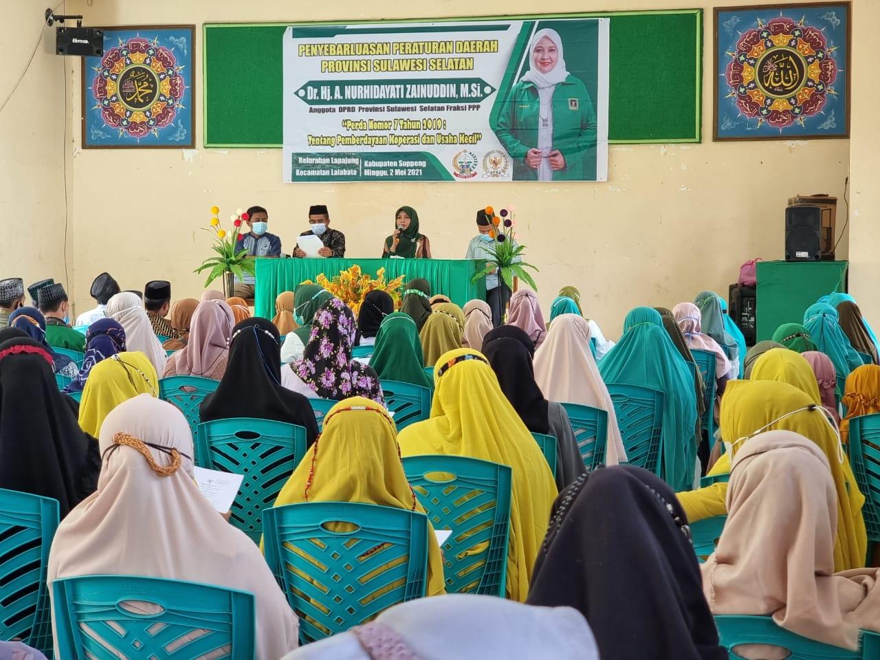 Dihadapan Ratusan Warga Nahdliyin, Andi Nurhidayati Tegaskan Komitmen Support Program NU Soppeng