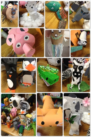 The green classroom recycled animals project for Project using recyclable items