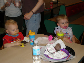 Photo: the young ones enjoy their cupcakes too