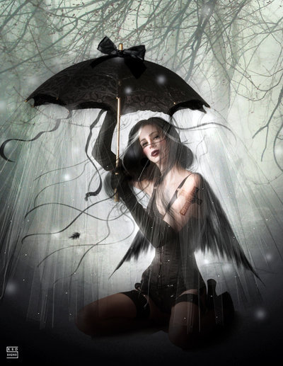 Witch With Umbrella, Pretty Witches