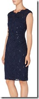 Lauren Ralph Lauren sequined stretch shift dress