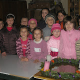 Adventi koszorú készítése-2008