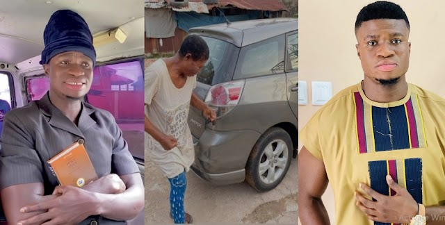 Months after been called Yahoo Boy for buying himself a car and a house, Comedian Zicsaloma gifts his mom a car (Video)