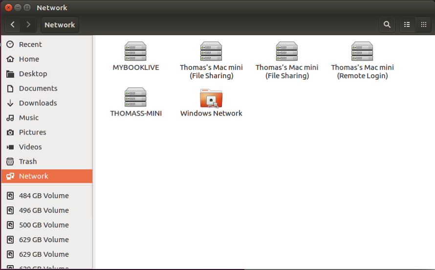 Nautilus file manager showing several Mac icons