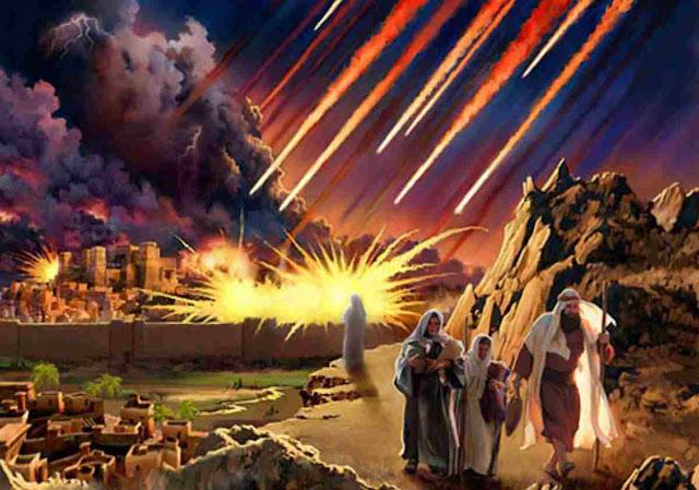 ilustracion destruccion de sodoma y gomorra