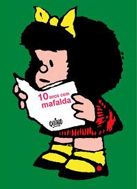 capa 10 anos com Mafalda