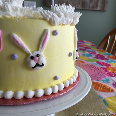Easter Bunny Birthday Cake on daydreambelieversdesigns