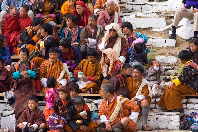 Público del festival de Paro, Bután