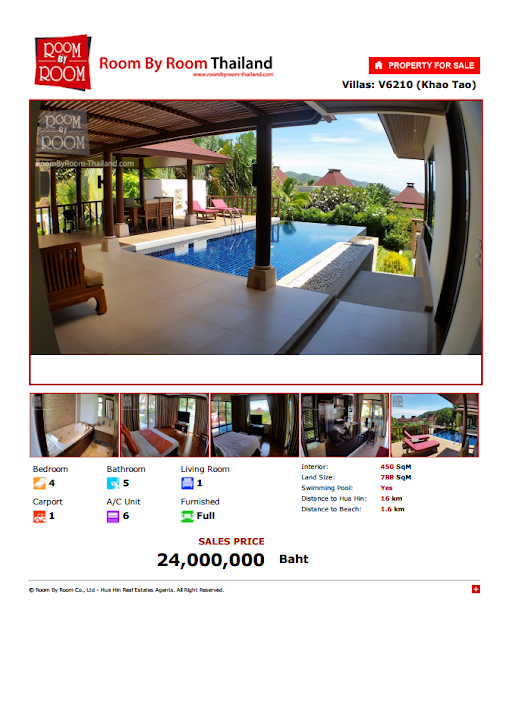 Luxury villas for sale hua hin Spectacular views - 24,000,000 ฿ …