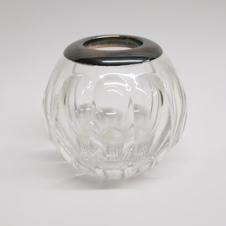 Sterling Silver and Crystal Petite Vase