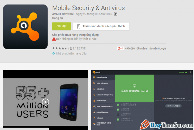 Ứng dụng AVAST Mobile Security & Antivirus