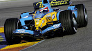 Renault R25 shake down by Fernando Alonso