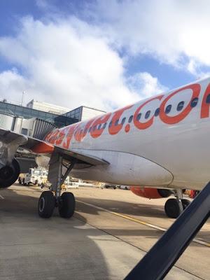 EasyJet plane in London Gatwick