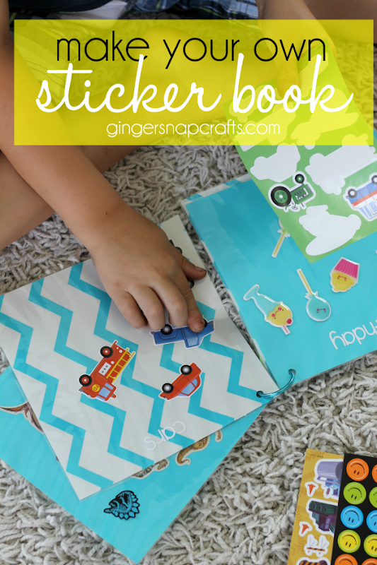 Make Your Own Sticker Book at GingerSnapCrafts.com