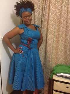 African Sotho Shweshwe Dresses 2017 / 2018 For Women