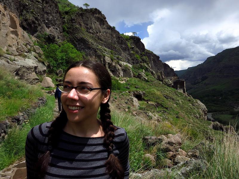 Alicia at Vardzia