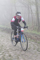 Naomi on the Arenberg on the Paris-Roubaix sportif