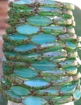 Czech Glass Spindle Beads from Beads and Babble