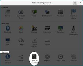 Configurar el sistema. Accesibilidad en Linux y otros. Copias de seguridad.