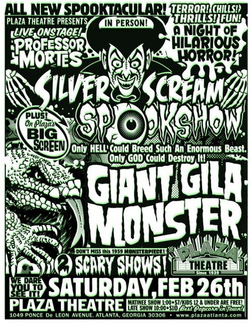 The Giant Gila Monster Spookshow, Plaza Theatre, Atlanta