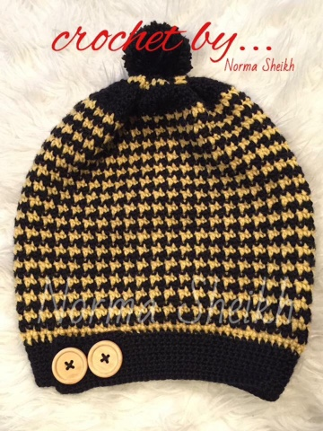 Crochet Houndstooth Stitch Slouchy Beanie Nenekmummy Keuken
