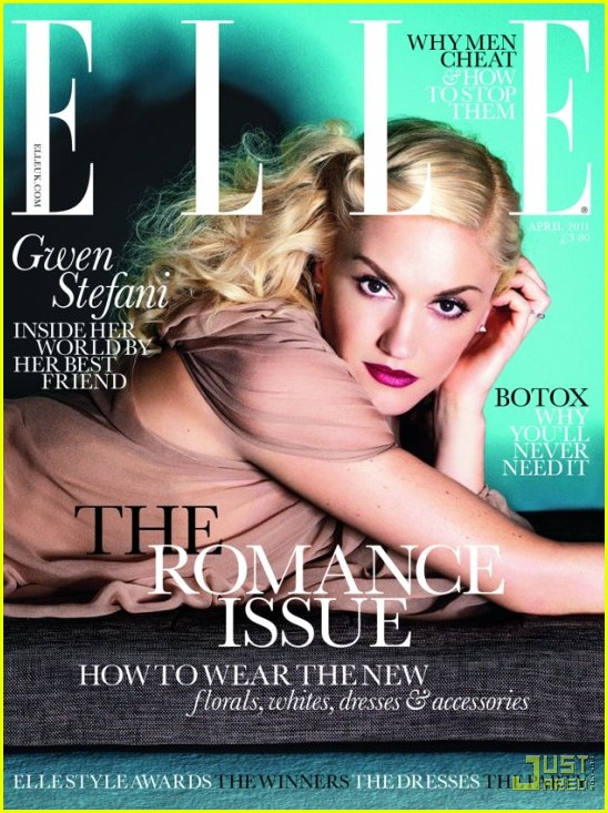 gwen stefani elle magazine 2011. Gwen Stefani looks amazing on