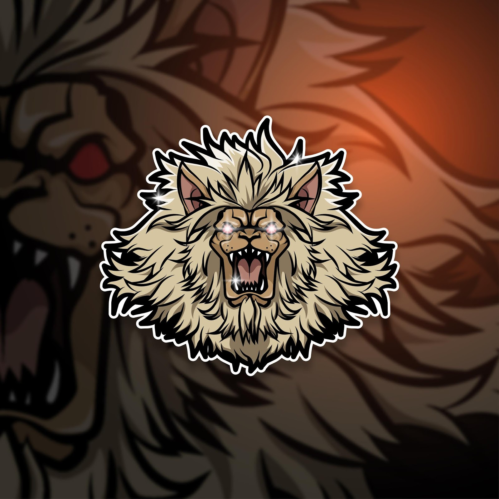Esports Mascot Logo Team Lion Free Download Vector CDR, AI, EPS and PNG Formats