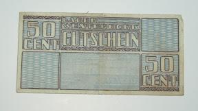 50 cent - Lager Westerbork - kampgeld. http://www.secondworldwar.nl/enschede/