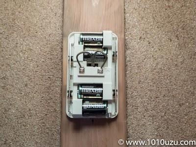 Panasonic EB-147-WKPに単2電池を入れたところ